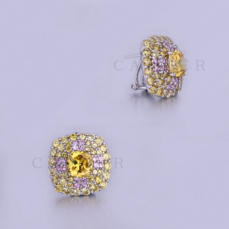 Fancy Gemstone Earring High Quality Factory Luxurious Studs K0014E