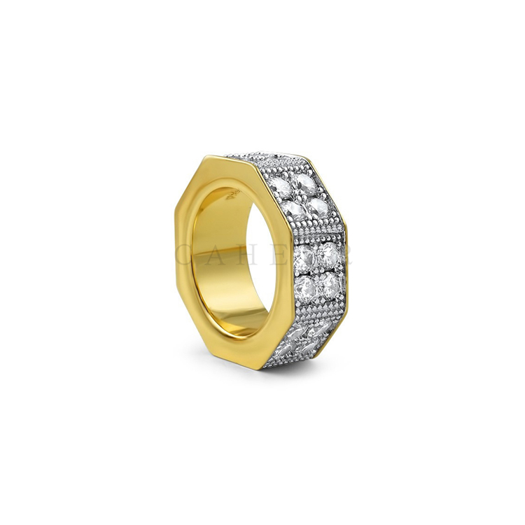 CR1707006 Hot Sale Rings AAA CZ Stone Rings Octagon Brass Ring