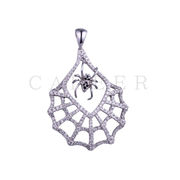 Luxurious Spider Web Pendant K0075P