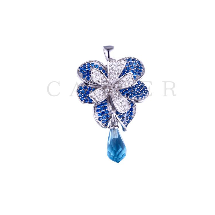 Luxurious Flower Pendant K0038P