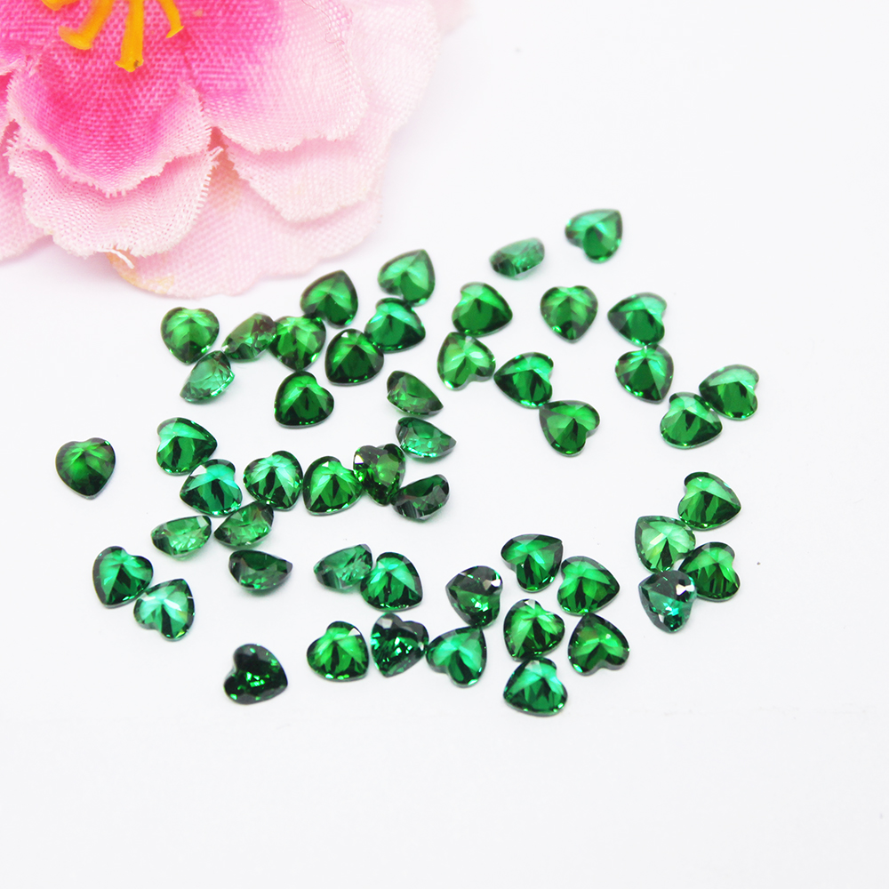 Heart Emerald CZ Synthetic Green Cubic Zirconia for Wax Casting