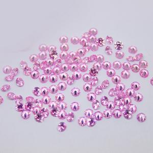 Factory Direct Sale 5mm Round Gems Pink CZ Stones For Jewelry Making