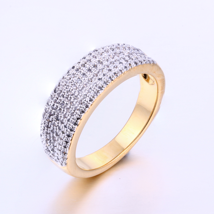 K1001R 2017 Gold Plated Ring Engagement Silver Stone Ring
