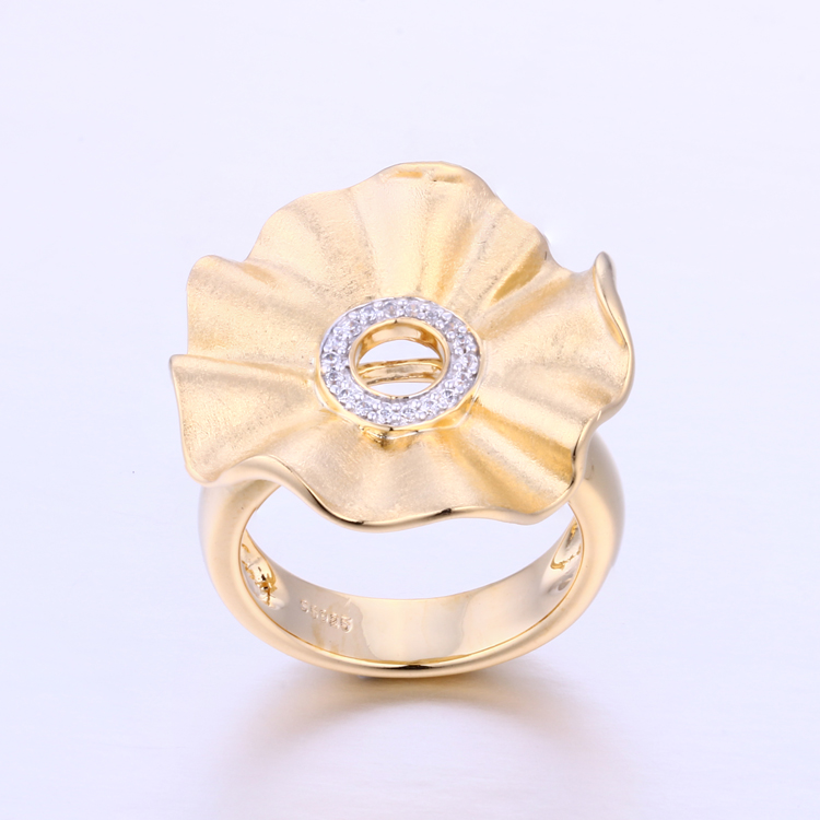 K1002R Free Shipping Flower Engagment Gold Rings Jewelry Women