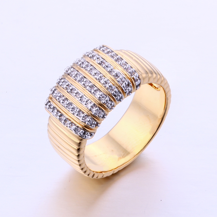K1003R Dubai Jewelry Fashion New Models18K Latest Finger Gold Ring Designs